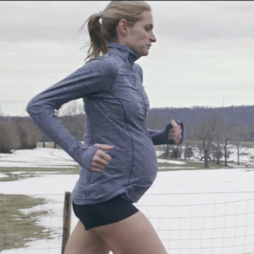 sarah brown olympic training while pregnant