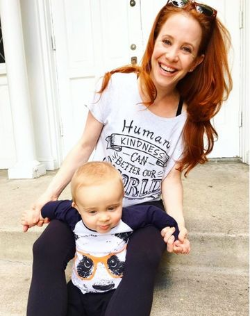 Amy Davidson With Son Lennox