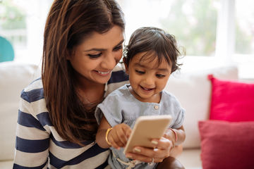 AAP Screen Time Parent Child On Cell Phone
