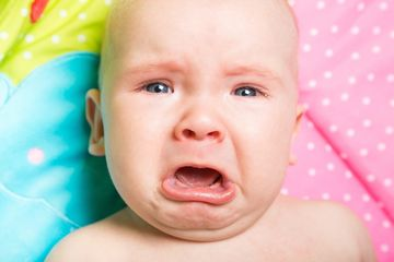 Crying And Colic Close Up Baby Upset
