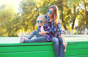 Awesome Mom Insults Cool Mom Daughter Wear Sunglasses