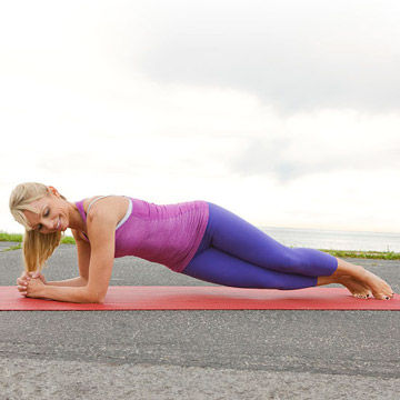 Forearm Plank With Twist