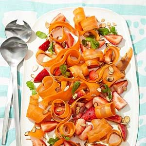 Carrot-Ribbon and Berry Salad