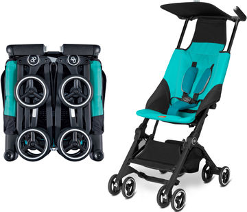 GB Pockit Stroller Folded and Unfolded