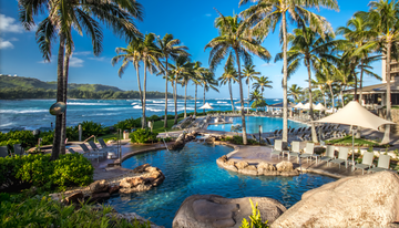 Vacation Spots Turtle Bay Resort Pool Area North Shore Hawaii