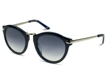 Vint & York Tortoiseshell Cat-Eye Blue Nose Style Sunglasses