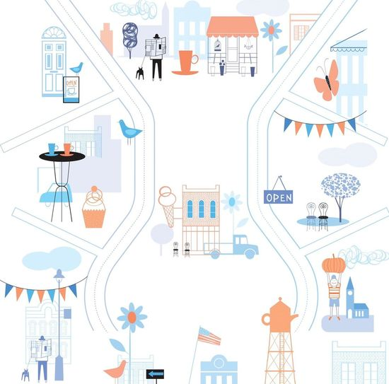 Take A Walk Love Your Town Illustration
