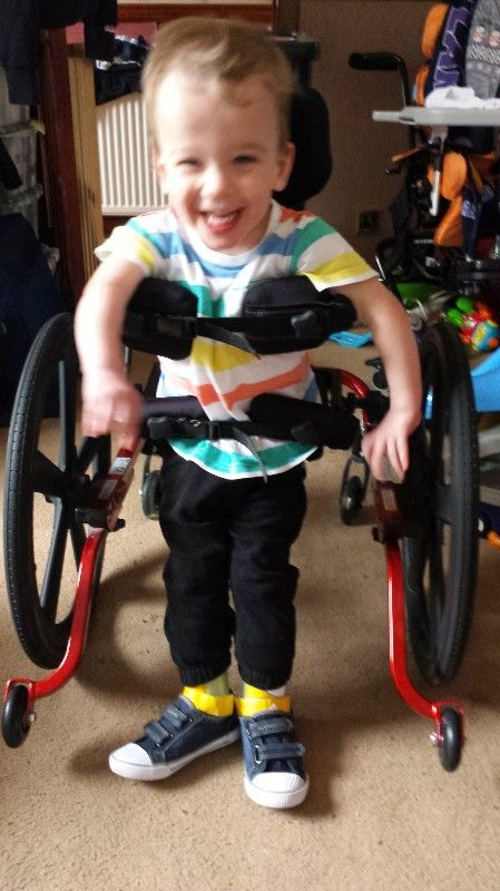 cooper in his wheelchair
