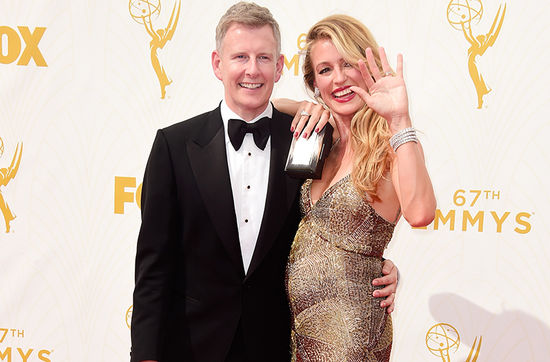 Cat Deeley pregnant on the red carpet at the Emmys