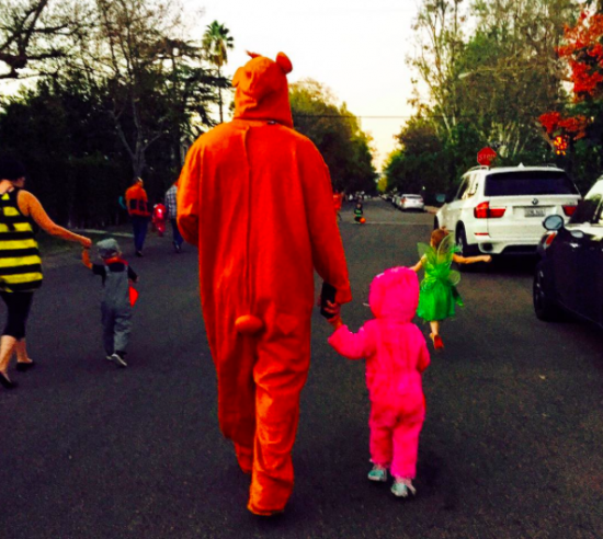 Channing Tatum and his daughter trick or treating