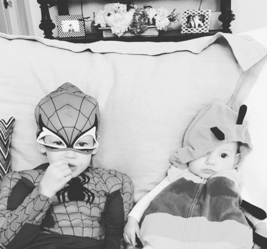 Hilary and Haylie Duff's kids' Halloween costumes