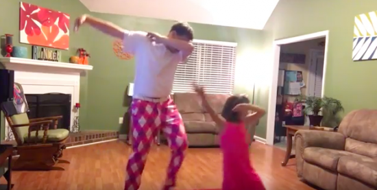 Daddy and daughter dance to Justin Timberlake