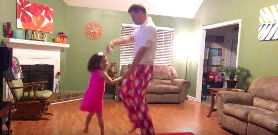 Daddy and daugther dance routine