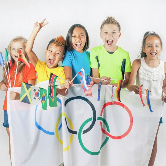 kids excited for the olympics