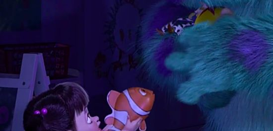 monsters inc. and finding nemo are connected