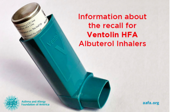 recalled inhaler