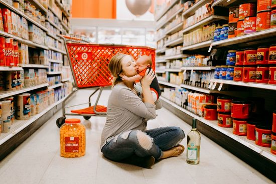 Target mom is back with adorable in store pics with her newborn son