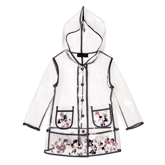 victoria beckham for target clear raincoat with flowers