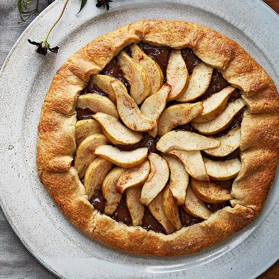 Chocolate-Pear Galette recipe image
