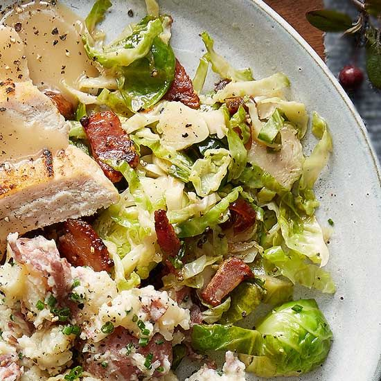 Bacony Brussels Sprout Slaw recipe image