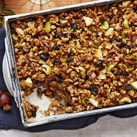 Herbed Fruit and Nut Stuffing recipe image