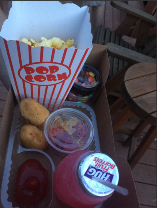 drive-in movie theater snacks