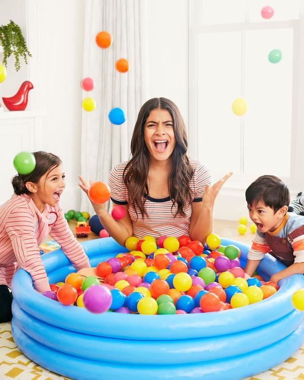 Mother Yells Sitting In Ball Pit With Kids