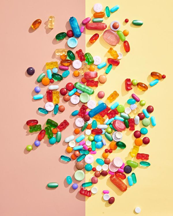 Scattered Pills Candy Gummies