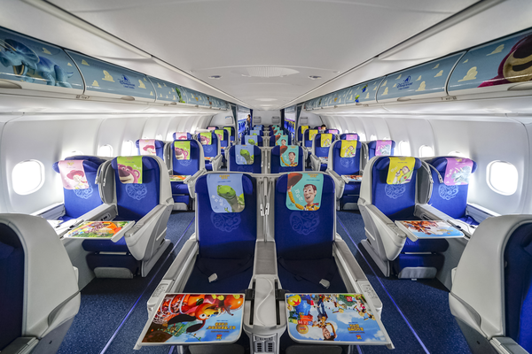 Inside Eastern China Airlines Buzz Lightyear Plane Shanghai Disneyland