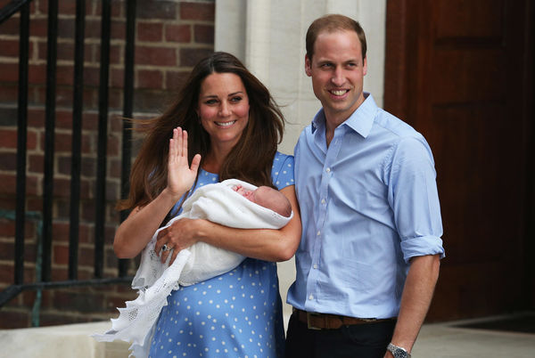 Kate Middleton and Prince George Lindo Wing