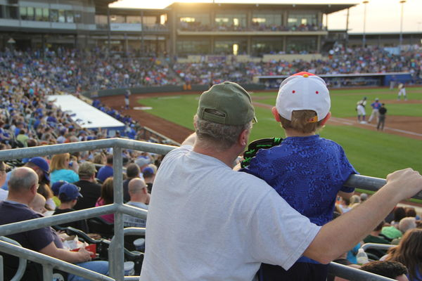 Minor League Baseball Werner Park Father and Son
