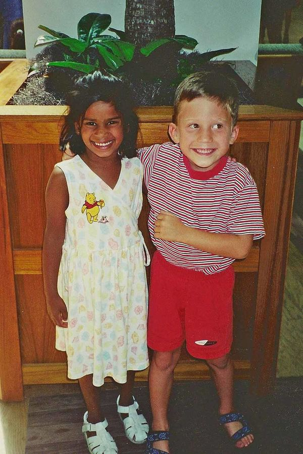 matt and laura as kids